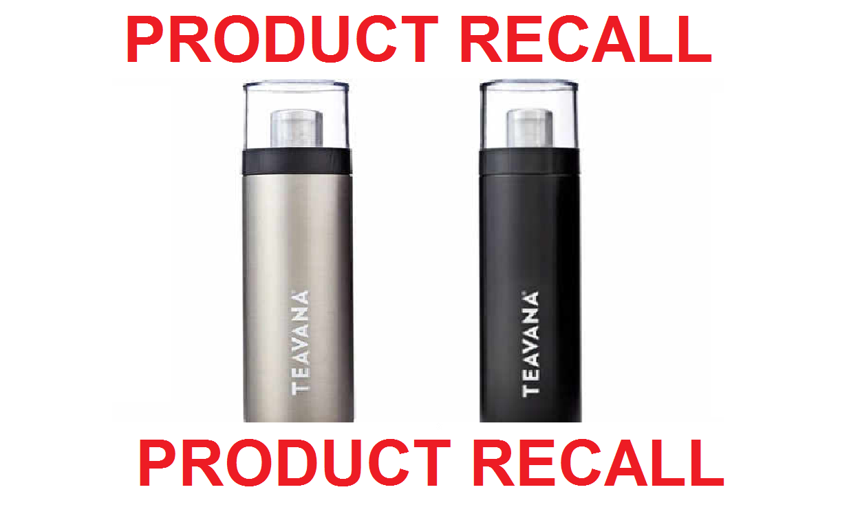Teavana recalls Flip Tumbler thermoses due to burn hazard